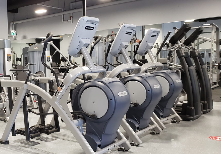 cardio section in gym